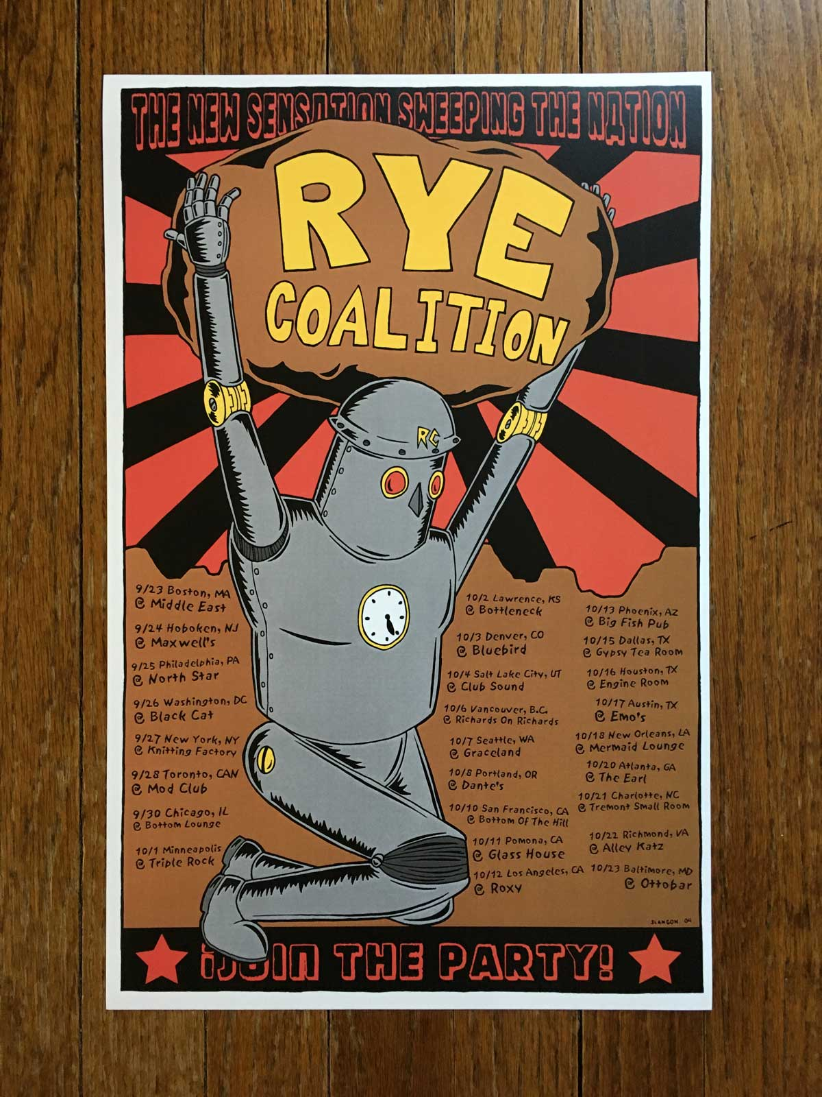 Rye Coaltion Fall 2004 Tour Poster